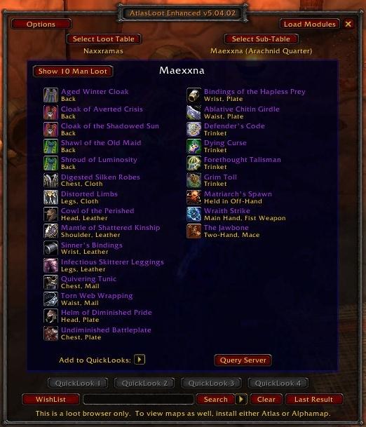 atlas loot wow 3.3.5